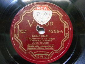 JOSE ITURBI Victor 4256 PIANO 78 SCARLATTI'S Sonatinas EX