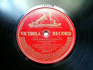 FARRAR & JOURNET Victrola 89037 OPERA 78rpm FAUST