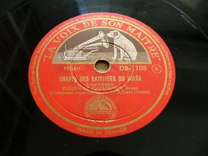 FEODOR CHALIAPINE Hmv 1103 OPERA 78rpm SONG OF THE VOLGA BOATMEN