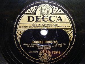 FRANCK CHAKSFIELD Decca Y6548 AUSTRALIA 78 GOLDEN TANGO / DANCING PRINCESS EX