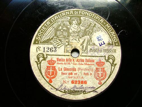 """11"""" SEBA MATACENA Fonotipia 62386 OPERA 78rpm LA GIOCONDA Danza Delle Ore Part 3/4"""