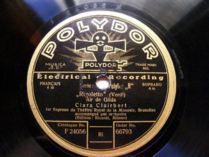 CLARA CLAIRBERT Polydor 66793 OPERA 78rpm GOUNOD
