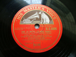 "BECHI barit VOTTO cond Otello HMV DB 6506 12"" 78rpm"