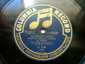 CIAPARELLI sop PARVIS barit Verdi COLUMBIA C119 78rpm