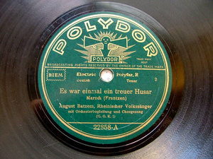 AUGUST BATZEM tenor POLYDOR 22858 10'' 78rpm