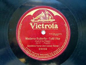 FARRAR & HOMER duet VICTROLA 89008 1Side 78rpm PUCCINI