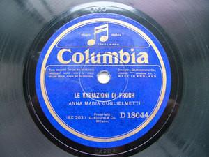 ANNA MARIA GUGLIELMETTI sop COLUMBIA 18044 12'' 78rpm