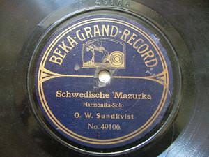 SUNDKVIST / EKLUND Harmonika rare BEKA 49056/106 78rpm