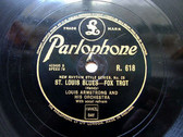 ARMSTRONG / TRUMBAUER Parlophone R-618 JAZZ 78 St. LOUIS BLUES / HOW I AM TO