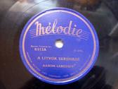 "AARON LEBEDOFF Melodie B-513 JEWISH 10"" 78rpm"