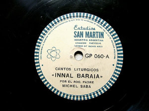 Padre MICHEL SABA Arg Private GP 060 78rpm INNAL MALEK