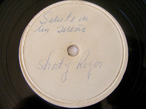 SHORTY ROGER Arg Test Pressing JAZZ 78rpm Stepped Out O