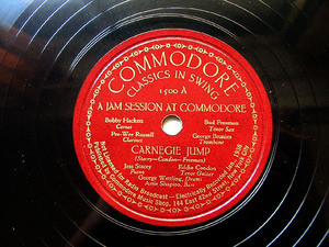 HACKETT, FREEMAN, RUSSELL Commodore 1500 JAZZ 78rpm