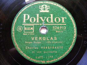 CHARLES VERSTRAETE Polydor 524913 JAZZ 78rpm OPUS ONE