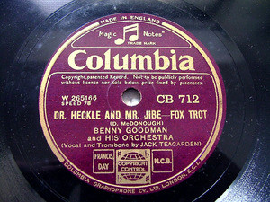 B. GOODMAN uk COLUMBIA CB712 JAZZ 78rpm TEXAS TEA PARTY