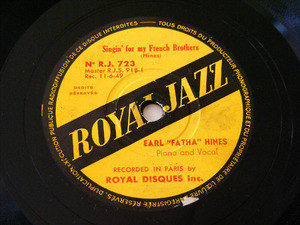 "EARL ""FATHA"" HINES Royal Jazz 723 JAZZ 78rp HONEYSUCKLE ROSE"