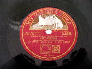COLEMAN HAWKINS  HMV 9328 JAZZ 78rpm MEET DOCTOR FOO