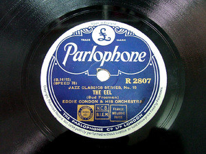 EDDIE CONDON Parlophone 2807 JAZZ 78rpm THE EEL