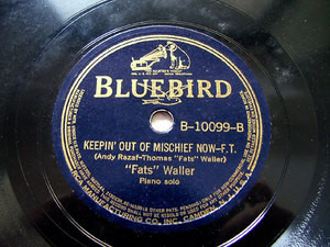 FATS WALLER piano solo BLUEBIRD B10099 JAZZ 78rpm