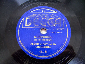 "CLYDE McCOY & His Orch DECCA 461 JAZZ 10"" 78rpm"