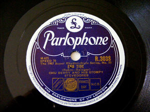 CHU BERRY Parlophone 3038 JAZZ 78rpm EBB TIDE