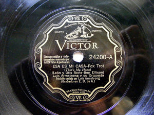 ARMSTRONG Arg Scr VICTOR 24200 JAZZ 78rpm THAT'S MY HOM