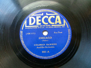 COLEMAN HAWKINS Decca 661 JAZZ 78rpm CHICAGO