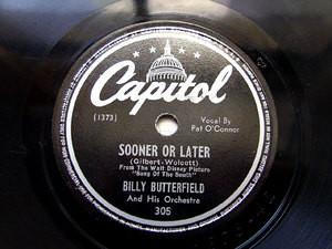 BILLY BUTTERFIELD Capitol 305 JAZZ 78rpm
