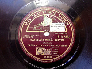 "GLENN MILLER & Orch Uk HMV BD 5839 JAZZ 10"" 78rpm"