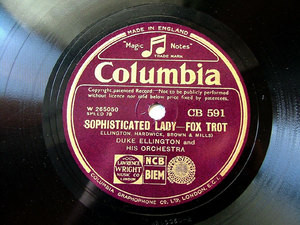 DUKE ELLINGTON uk Columbia CB-591 JAZZ 78rpm NM