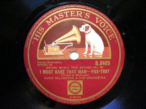 DUKE ELLINGTON HMV B.8469 JAZZ 78rpm EAST ST. LOUIS