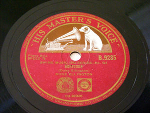 DUKE ELLINGTON HMV B.9285 JAZZ 78rpm SOLITUDE