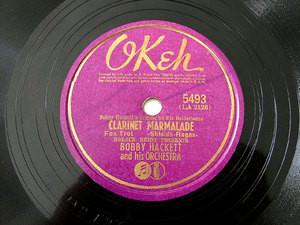BOBBY HACKETT Okeh 5493 JAZZ 78rpm CLARINET MARMALADE