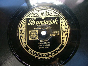 ART TATUM Brunswick 02591 JAZZ 78rpm CHLO E