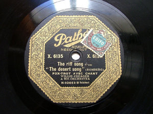 GEO HALL / WILLIE CREAGER Orch PATHE X 6135 JAZZ 78rpm