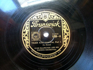 DUKE ELLINGTON Brunswick 1338 JAZZ 78rpm TIGER RAG
