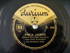 GINO RUGGIERO Durium 568 ITALIAN 78rpm VARCA LUCENTE