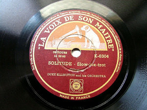 DUKE ELLINGTON LVDSM K-8304 JAZZ 78rpm SOLITUDE