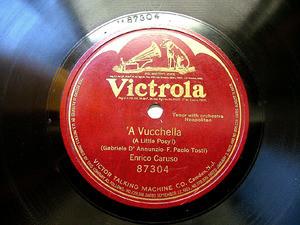 E. CARUSO Victrola 87304 NEAPOLITAN 78rpm A VUCCHELLA