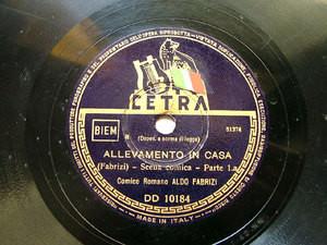 ALDO FABRIZI Cetra DD 10184 ITALIAN COMIC 78rpm
