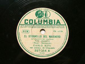 CARLO BUTI Arg COLUMBIA 297054 ITALIAN 78rpm STORNELLO