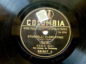 CARLO BUTI Columbia 291847 ITALIAN 78rpm