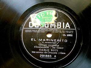 C. BUTI Arg COLUMBIA 291885 NEAPOLITAN 78rpm MARINERITO