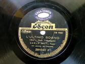 CARLO BUTI Arg ODEON 291040 ITALIAN 78rpm L'ULTIMO SOGN