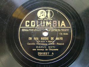 CARLO BUTI Columbia 291837 ITALIAN 78rpm GUITARRA NEGRA