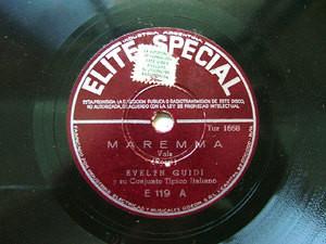EVELYN GUIDI Elite Special E119 ITALIAN 78rpm MAREMMA