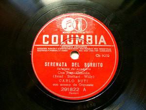 CARLO BUTI Arg COLUMBIA 291822 ITALIAN 78rpm SERENATA DEL BURRITO