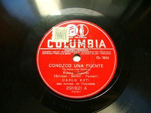 CARLO BUTI Columbia 291821 ITALIAN 78rpm CONOZCO UNA FUENTE