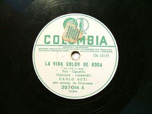 CARLO BUTI Columbia 297014 ITALIAN 78rpm VITA E ROSA