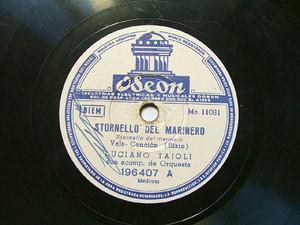 LUCIANO TAJOLI Arg ODEON 196407 ITALIAN 78rpm STORNELLO